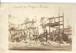 Guerre 14 18 NANCY Meurthe Et Moselle Rare Carte Photo Incendie Des Magasins Réunis 1916 Suite Bombardement Allemand - Nancy