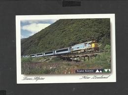 Colour Postcard General View Trans Alpine Train New Zealand Posted - Nouvelle-Zélande