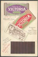 CHOCOLATE CHOCOLADE CHOCOLAT Belgium - Carte Chocolat VICTORIA Vanillé Extra S.A. à BRUXELLES (Belgique)  - 138534 - Food