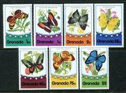 Grenada 1975 Butterflies Set MNH (SG 729-735) - Grenada (1974-...)