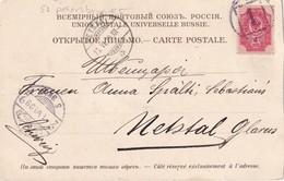RUSSIE 1899 CARTE DE S.PETERSBURG POUR NETSTAL - 1857-1916 Imperium