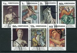 Grenada 1975 500th Birth Anniversary Of Michelangelo Set Used (SG 745-751) - Grenada (1974-...)