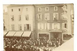 Photo Ancienne PONT A MOUSSON  Hôtel De La Posete Animation Env. 1925 Lire Verso - Lieux