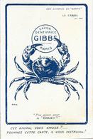 Publicité: Les Animaux De Gibbs (Dentifrice, Brosse à Dents) Illustration Nam: Le Crabe: J'en Pince Pour Le Gibbs - Other