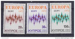 Europa Cept 1972 Cyprus 3v ** Mnh (42634U) - 1972