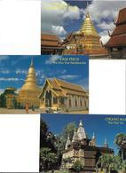 3070f: 3 AKs Ansichten Aus Thailand, Ungelaufen - Thaïland