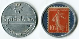 N93-0582 - Timbre-monnaie Spidoléine Type 2 - 10 Centimes - Kapselgeld - Encased Postage - Monetari / Di Necessità