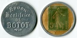 N93-0583 - Timbre-monnaie Dentifrice De Botot Type 1 - 5 Centimes - Kapselgeld - Encased Postage - Monetary / Of Necessity