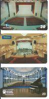 3 Télécartes Brésil Musique Salle De Concert Théâtre  (D 351) - Musique