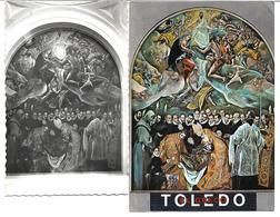 3070a: 2 AKs Mit Deckenfresko Aus Toledo, Spanien, Gelaufen 1960 Nach Österreich - Pinturas, Vidrieras Y Estatuas
