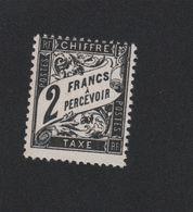 Faux Taxe N° 23 2 F Duval Gomme Sans Charnière - 1859-1955 Neufs