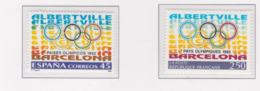 France And Spain 1992 Olympic Games In Barcelona And Albertvillee MNH/** (H53) - Joint Issues