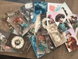 Lot De 27 Cartes Fantaisies - Postcards