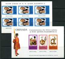 Grenada 1977 Silver Jubilee - Booklet Pane Set MNH (SG 863-866) - Grenada (1974-...)