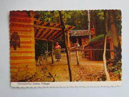 Carte Postale : U.S.A. : North Carolina : OCONALUFTEE Indian Village - Etats-Unis