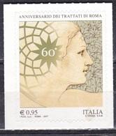 Repubblica Italiana, 2017 - 95c CEE, EURATOM - Nr.3816 MNH** - 6. 1946-.. Repubblica