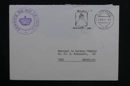 BELGIQUE - Enveloppe En Franchise Postale De Waterloo ( Service Du Roi Léopold ) Pour Bruxelles En 1981 - L 28813 - Cartas