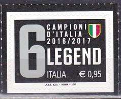 Repubblica Italiana, 2017 - 95c Juventus - Nr.3832 MNH** - 6. 1946-.. Repubblica