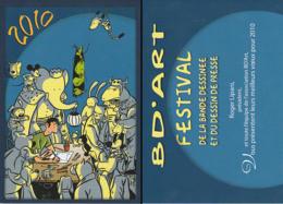 DELOUPY : Carte Voeux SALON BD'ART 2010 - Postcards