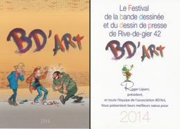 PICA : Carte Voeux SALON BD'ART 2014 - Cartes Postales