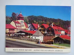 "Carte Postale : U.S.A. : Georgia : ALPINE VILLAGE ""HELEN"", White Horse Square - Etats-Unis"