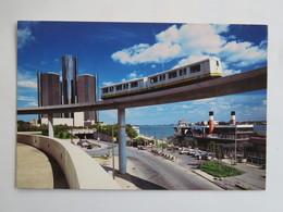 Carte Postale : U.S.A. : Michigan : DETROIT : The City's Waterfront Faces Windsor, Ontario Across The Detroit River - Detroit