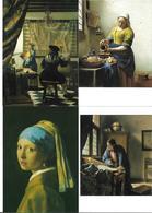 3055s: 6 Kunst- AKs Johannes Vermeer (1632- 1675), Ungelaufen, Rijksmuseum Amsterdam - Schilderijen