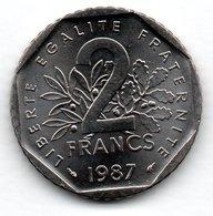 Semeuse -  2 Francs 1987  - état  SPL - France