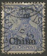 German Offices China - 1901 Germania Overprint 20pf Used  Sc 27 - Offices: China