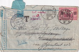 INDES NEERLANDAISES 1931 PLI AERIEN TAXE A GRONINGEN - Niederländisch-Indien