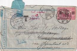 INDES NEERLANDAISES 1931 PLI AERIEN TAXE A GRONINGEN - Nederlands-Indië
