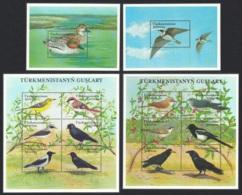 Turkmenistan Birds 2 Sheetlets + 2 MSs MNH SG#MS111-MS112 - Turkmenistan