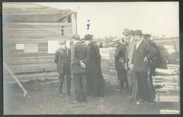 VELAINES - JAMBES Octobre 1910  - C.Photo Du Champ D'aviation De Velaines Aviateur Alfred LANSER Et Abbé Joseph Jeanmart - Namur