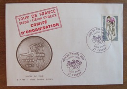 Tour De France 1986 étape Liévin > Evreux Comité D'Organisation Cyclisme Cachets Pas De Calais 62 Eure 27 Vélo - Cyclisme