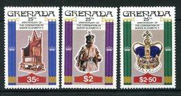 Grenada 1978 25th Anniversary Of Coronation Set MNH (SG 946-948) - Grenada (1974-...)