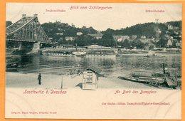 Loschwitz Bei Dresden Germany 1900 Postcard - Dresden