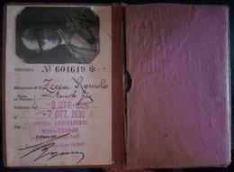 FASCISMO - FERROVIE DELLO STATO TESSERA USO BIGLIETTI 1925 - Europe