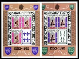 Grenada 1978 25th Anniversary Of Coronation - P.12 - Sheetlet Set MNH (SG Footnote) - Grenada (1974-...)