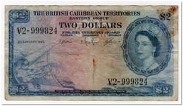 BRITISH CARIBBEAN TERRITORIES,2 DOLLARS,1963,P.8c - East Carribeans