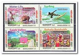 Bangladesh 2017, Postfris MNH, Visit Bangladesh, Flowers, Animals, Surfing - Bangladesh