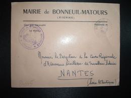 LETTRE MAIRIE OBL.12-11 1964 BONNEUIL-MATOURS VIENNE (86) - Marcophilie (Lettres)