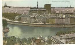 CPA .vue Générale Rive Gauche Avec Paillettes Collées - Notre Dame De Paris