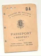 PASSEPORT / REISPAS Belge De 1938 Délivré à Liège - Visa DOVER , Immigration Office 1938 (b250) - Historical Documents