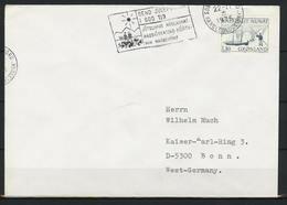 Grönland; Maschinenstempel Motiv: Weihnachten; MiNr. 93 Auf Brief Nach Deutschland;  B-138 - Storia Postale