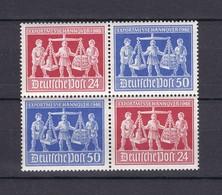 Alliierte Besetzung - 1948 - Michel Nr. V Zd 2 - Viererblock - Ungebr. - 50 Euro - Gemeinschaftsausgaben