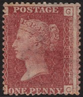 ~~~ Great Britain 1858/1879 - Queen Victoria 1 Penny WM Large Crown Plate 198 CG-GC - SG 43 ** MNH ~~~ - Unused Stamps