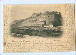 Y10618/ Gruß Aus Koblenz Karthause Eisenbahn AK 1898 - Deutschland
