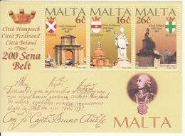 1997 MaltaCity Bicentennials Souvenir Sheet MNH - Malta
