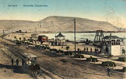 Iquique, Avenida Cavancha, Tranvia De Caballos - Chile