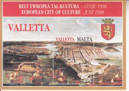 1998 Malta Treasures Valletta  Souvenir Sheet MNH - Malta